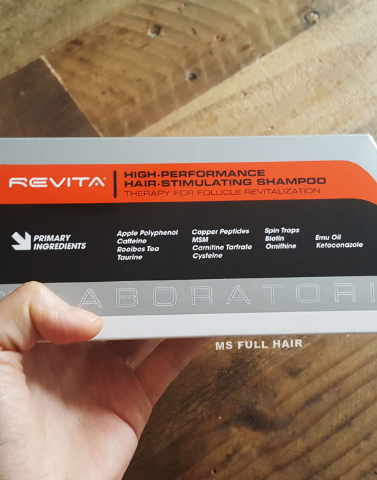 Revita hair loss shampoo ingredients