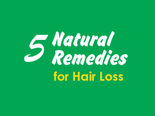 Infographic: 5 Natural Remedies to Treat Hair Loss