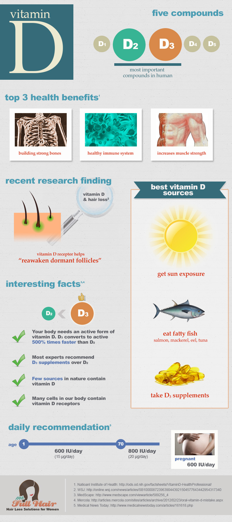 infographic for vitamin d and hair follicles