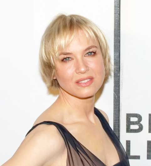 Renee Zellweger keeps her hair short to hide hair loss