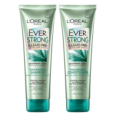Loreal Paris EverStrong thickening shampoo for thinning hair review