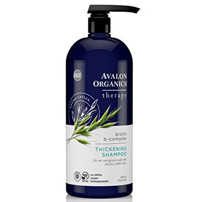 avalon organics biotin complex thickening shampoo for thinning hair review