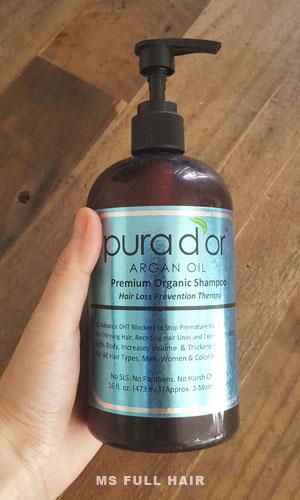 pura dor argan oil premium organic shampoo
