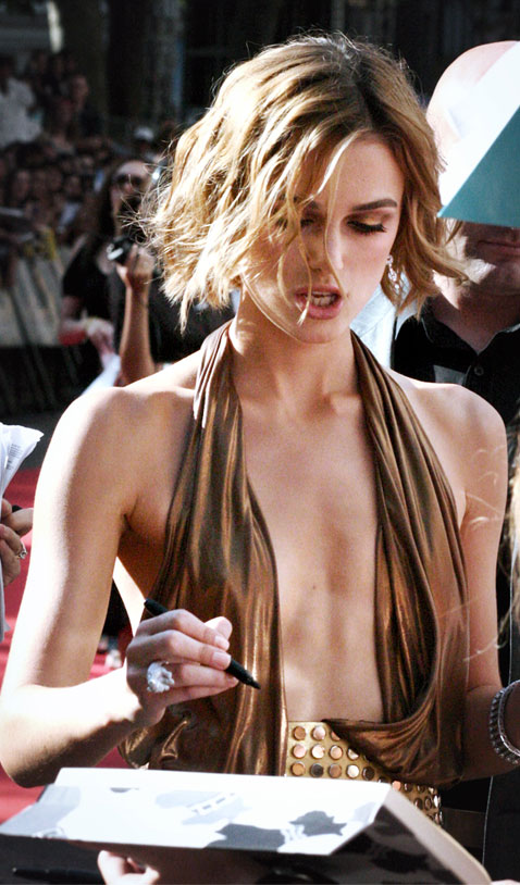 keira knightley hair falling out