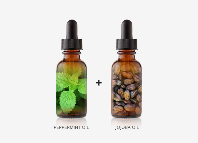 peppermint oil and jojoba oil for hair growth study formula recipe