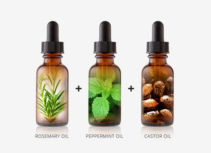 rosemary oil peppermint oil castor oil for hair growth recipe
