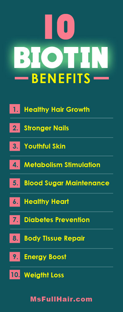 TOP 10 Biotin benefits including hair growth and stronger nails