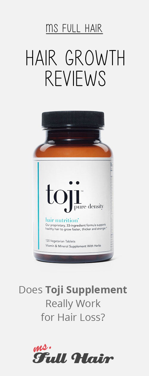 Toji Pure Density Vitamins review for hair growth
