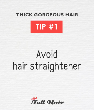 Anastasia Sidorova hair care tips 1 avoid hair straightener