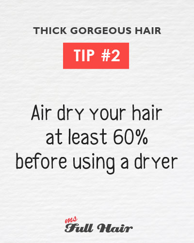 Anastasia Sidorova hair care tips 2 air dry