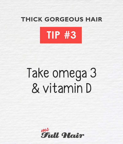 Anastasia Sidorova hair care tips 3 omega 3 vitamin d