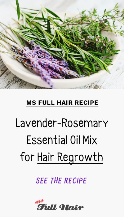 Lavender rosemary oil for hair growth essential oils mix recipe to stop hair loss