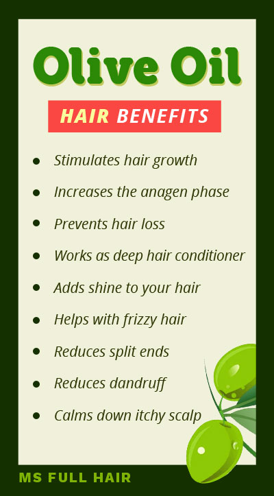 olive oil benefits for hair and scalp