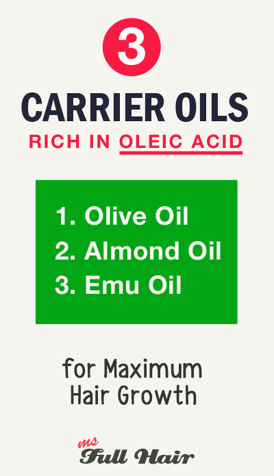 best carrier oils rich in oleic acid for hair growth and skin care