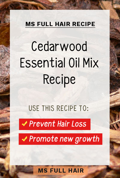 cedarwood oil hair growth recipe