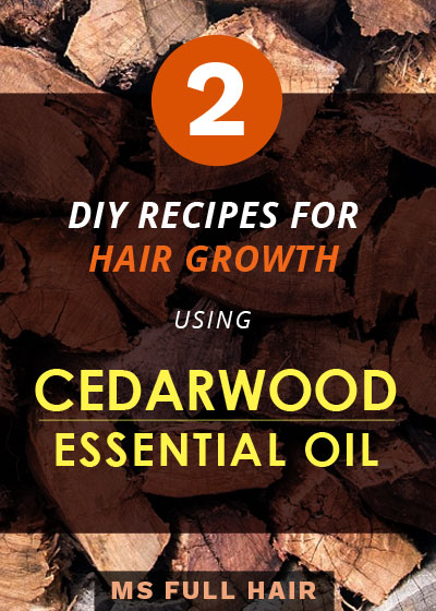 how to use cedarwood oil for hair growth recipes