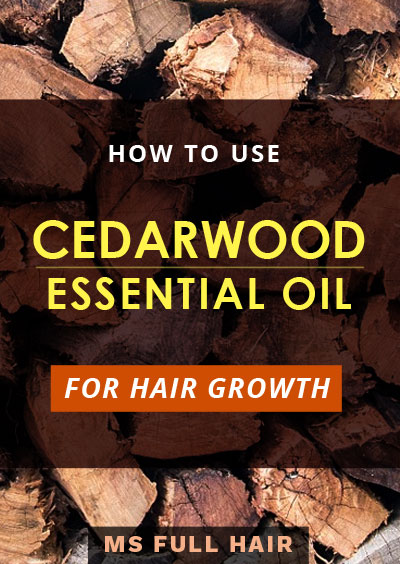 How to use cedarwood oil for hair loss