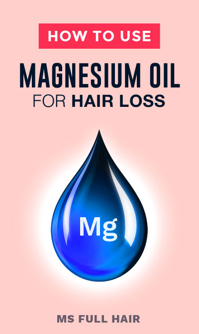 how to use magnesium oil for hair loss balding