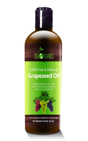 sky organics cold pressed organic grape seed oil for hair growth