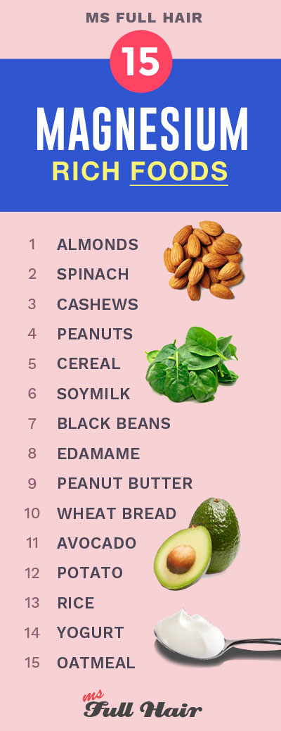 top magnesium rich foods for hair growth