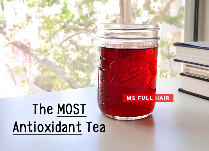 the most antioxidant tea for hair growth