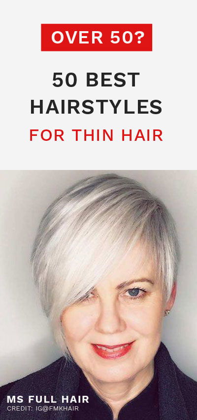 best haircuts and hairstyles for thin hair over 50 older women