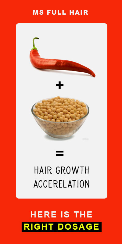 capsaicin and soy for hair loss research