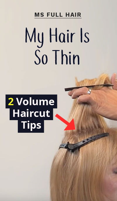 haircuts how to add volume to crown of head