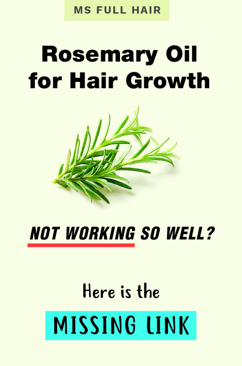 rosemary oil for hair growth study results